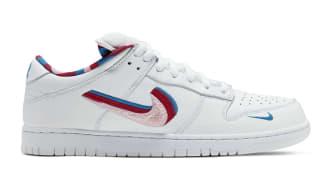 Parra x Nike SB Dunk Low White/Pink Rose/Gym Red/Military Blue