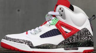 Jordan Spiz'ike White/Light Poison Green-University Red-Cool Grey