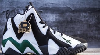 Reebok Kamikaze II Mid Black/White-Racing Green-Red