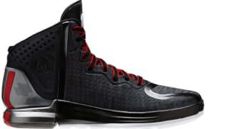 adidas Rose 4 Black/Light Scarlet-Neon Iron Metallic