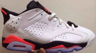 12863b4553c658 Air Jordan 6 Retro Low White Infrared 23-Black