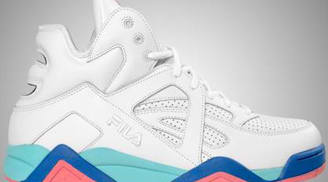 Fila The Cage White/Aruba Blue-Fiery Coral-Electric Blue