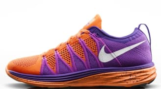 Nike Flyknit Lunar2 Women's Atomic Orange/White-Court Purple-Red Violet