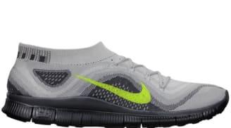 Nike Free Flyknit Pure Platinum/Volt-Wolf Grey-Dark Grey