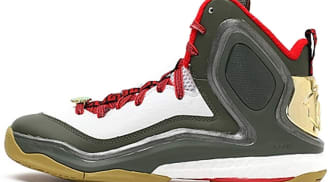 adidas D Rose 5 Boost CNY White/Green-Red-Gold