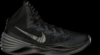 Nike Hyperdunk 2013 Black/Metallic Silver-Dark Grey