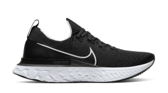 Nike React Infinity Run Flyknit Black/White-Dark Grey