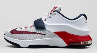 Nike KD VII White/University Red-Obsidian