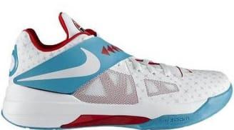 Nike KD 4 N7 White/Dark Turquoise-Challenge Red