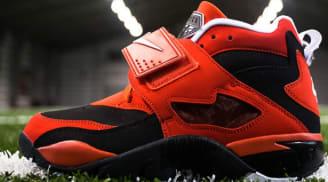 Nike Air Diamond Turf Black/White-Challenge Red