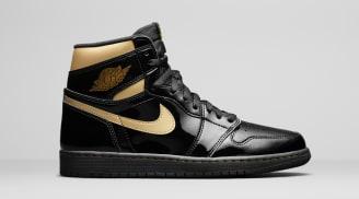 Air Jordan 1 Retro High OG Black/Black/Metallic Gold