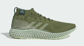 Pharrell x Adidas 4D Runner Mid Tech Olive/Running White-Collegiate Green