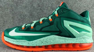 Nike LeBron 11 Low Mystic Green/White-Medium Mint-Hyper Cobalt