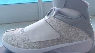 Air Jordan 20 Retro Laser White/Metallic Silver-White
