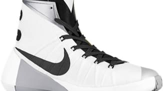 Nike Hyperdunk 2015 White/Metallic Silver-Black