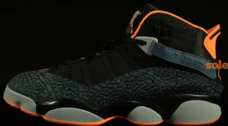 Jordan 6 Rings Black/Atomic Orange-New Slate-Wolf Grey