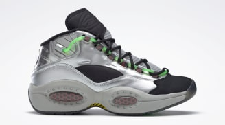 Minions x Reebok Question Mid Silver Metallic/Black/Scarlet