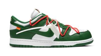 Off-White x Nike Dunk Low White/Pine Green/Pine Green