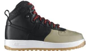Nike Air Force 1 Duckboot Black/Black-Khaki