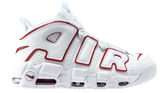Nike Air More Uptempo White/University Red-White