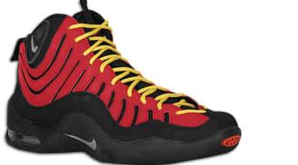 Nike Air Bakin' Black/Metallic Silver-Varsity Red-Orange Blaze