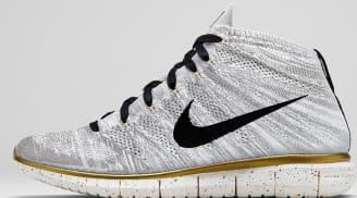 Nike Free Flyknit Chukka Premium QS Ivory/Black-Metallic Gold-Metallic Silver