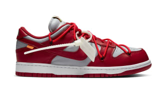 Off-White x Nike Dunk Low University Red/Wolf Grey/University Red