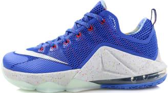 Nike LeBron 12 Low LMTD Hyper Cobalt/Metallic Silver-Light Crimson