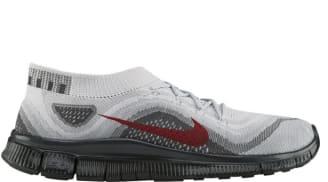 Nike Free Flyknit Pure Platinum/University Red-Wolf Grey-Dark Grey
