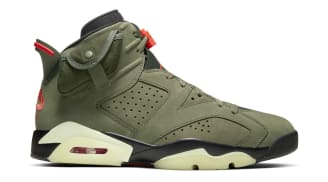Travis Scott x Air Jordan 6 Retro Medium Olive/Black-Sail-University Red