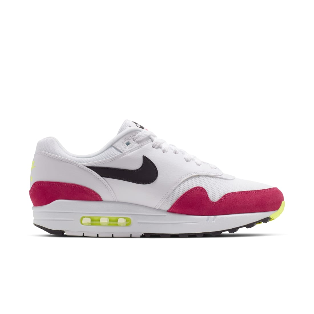 Nike Air Max 1 White Black Volt Rush Pink | Nike | Sole Collector