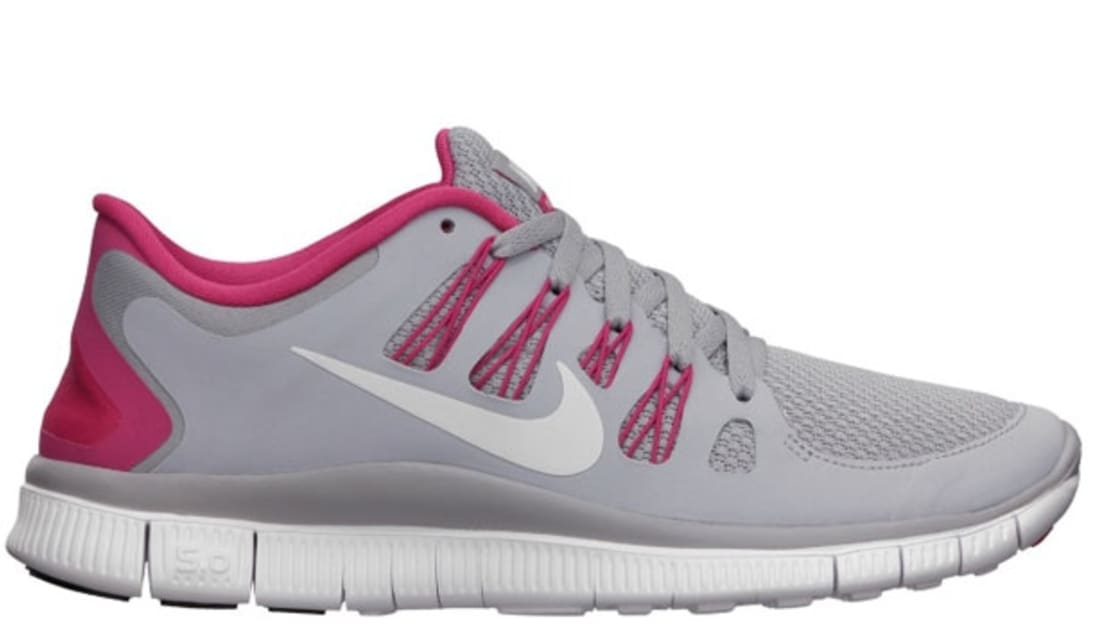 reputable site 02c2b f91dc Nike Free 5.0+ Women's Wolf Grey/Pink Force-White | Nike | Sole ...
