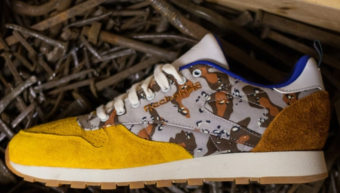 Bodega x Reebok Classic Leather Lux Camo Brown/Mustard