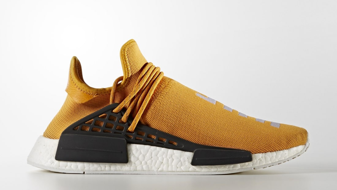 Pharrell Williams NMD Human Race Shoes (5 Men, Yellow),Adidas