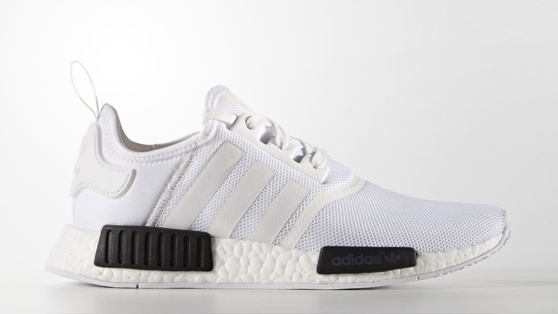 nmd adidas white and black