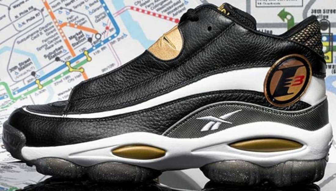 Reebok Answer I Black/White-Metallic Gold-Red-Clear
