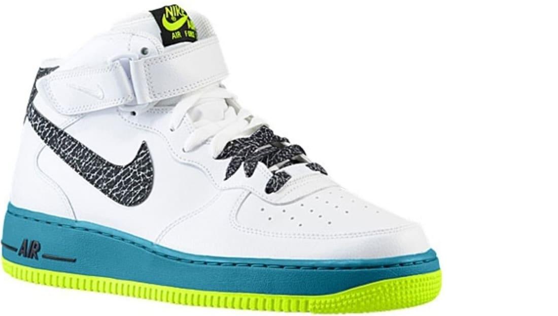 Nike Air Force 1 Mid WhiteBlack Green Abyss Volt | Nike