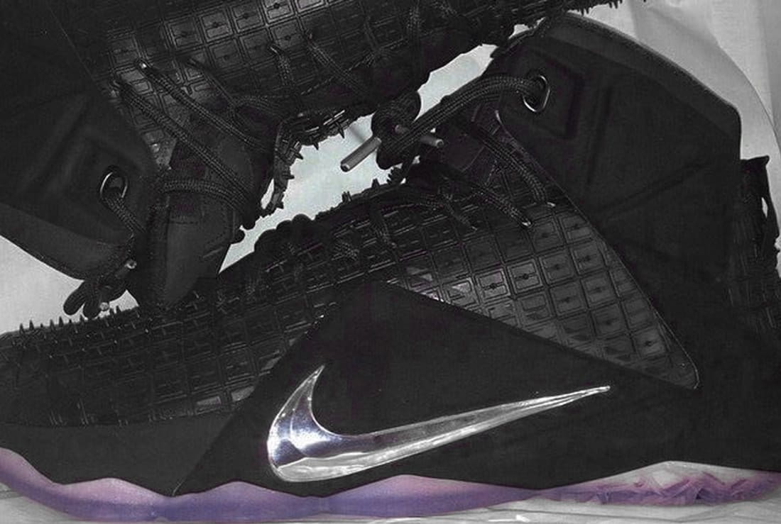 Nike LeBron 12 EXT QS Black/Chrome