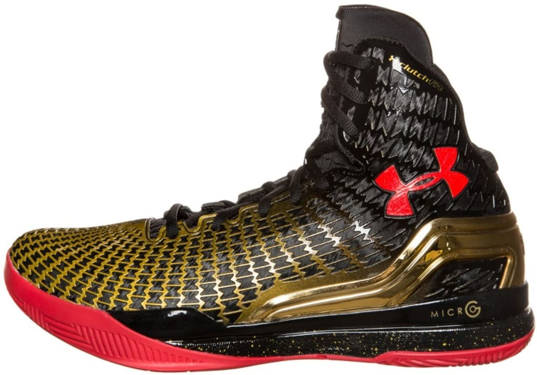 7312386c323 Under Armour · Under Armour Basketball · Under Armour Micro G Clutchfit  Drive. Under Armour Micro G Clutchfit Drive Black Red-Metallic Gold