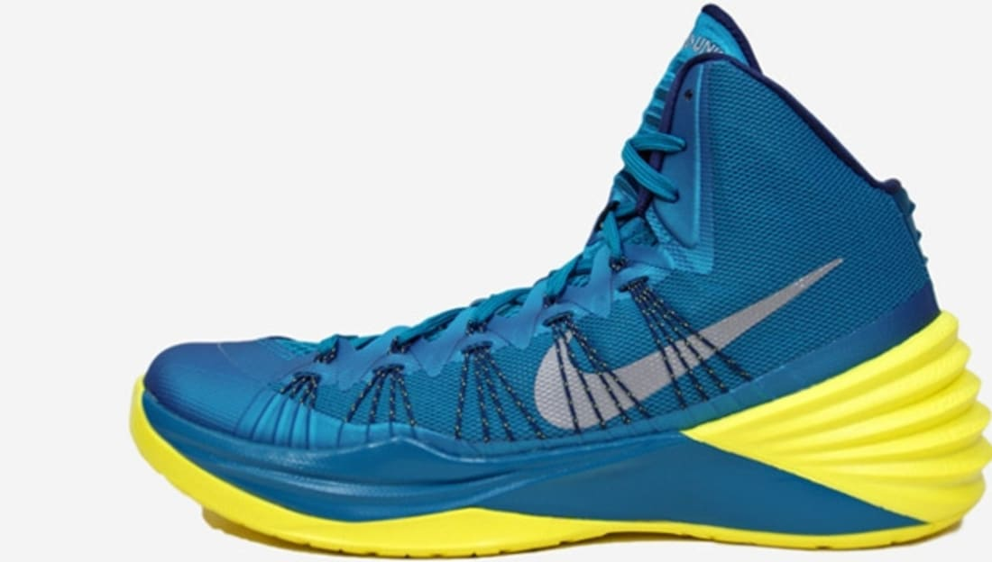Nike Hyperdunk 2013 Tropical Teal/Midnight Navy-Sonic Yellow