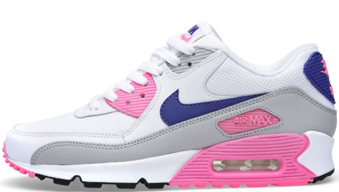 classic fit ee4de e6a7f Nike Air Max '90 Essential Women's White/Concord-Zen Grey-Pink Glow ...
