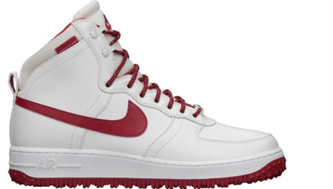 sports shoes 08c16 7d1e9 Nike Air Force 1 High Deconstructed Military Boot QS Summit White Gym Red