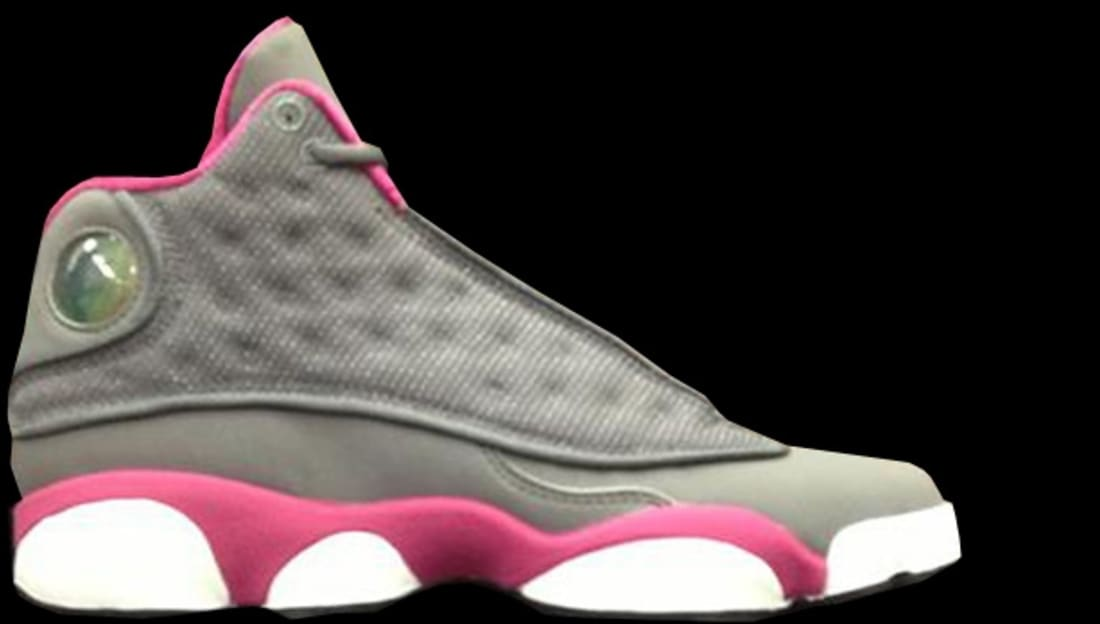 Girls Air Jordan 13 Retro GS Cool Grey/Fusion Pink