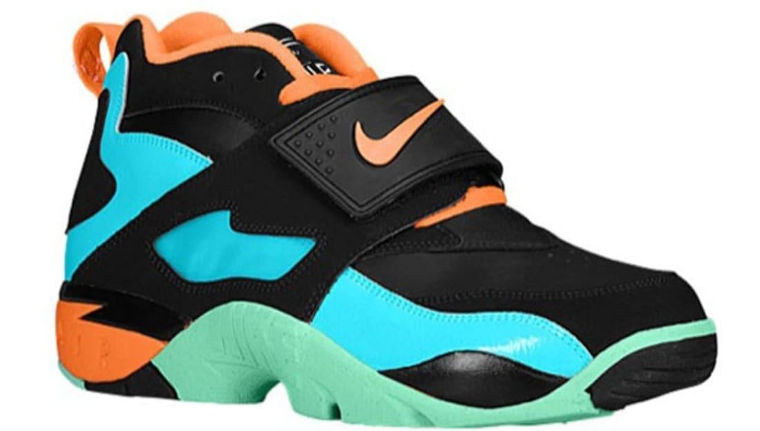 Nike Air Diamond Turf Black/Total Orange-Gamma Blue-Green Glow