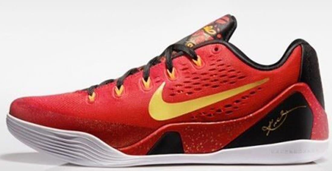 4c110a05cba Nike · Nike Kobe · Nike Kobe 9 (IX). Nike Kobe IX Premium University Red Metallic  Gold-Black