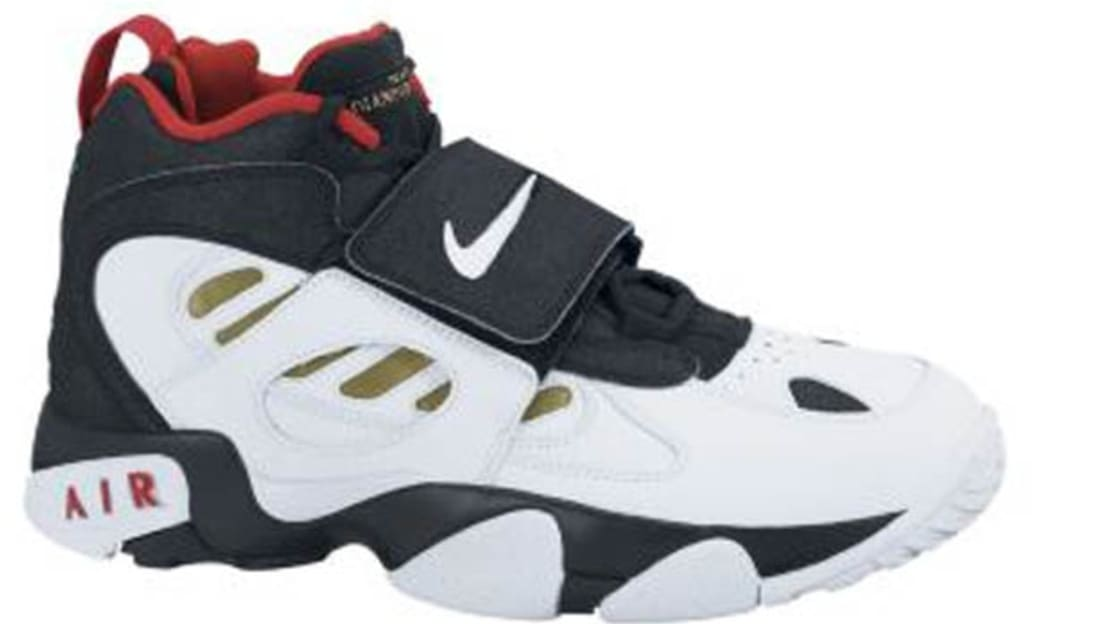 67b42dc7fdc3 Nike · Nike Deion · Nike Air Diamond Turf 2 (II). Nike Air Diamond Turf II  Black White-Metallic Gold-Varsity Red