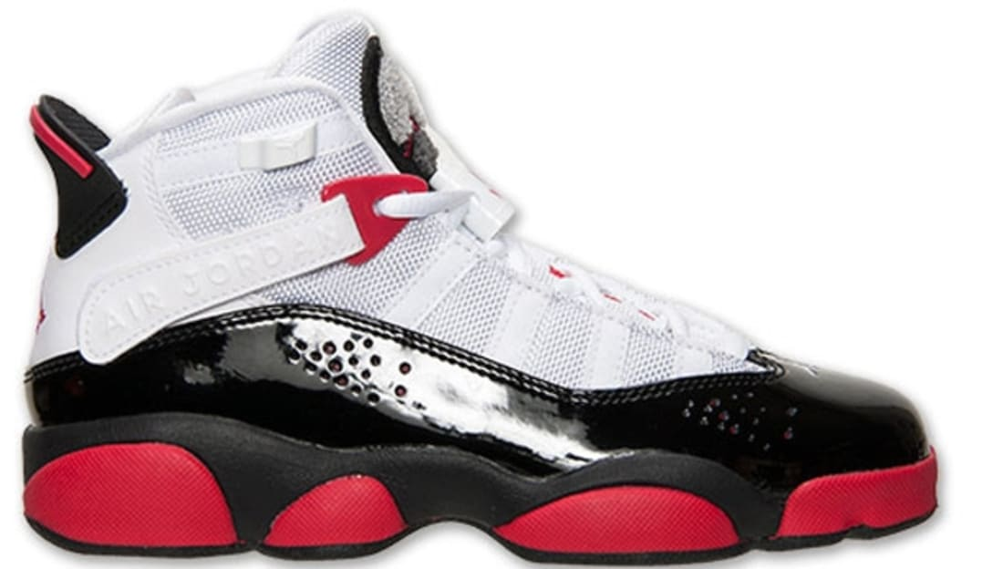 on sale 5346e ac4ea Jordan 6 Rings Girls White/Legion Red-Black-Wolf Grey ...