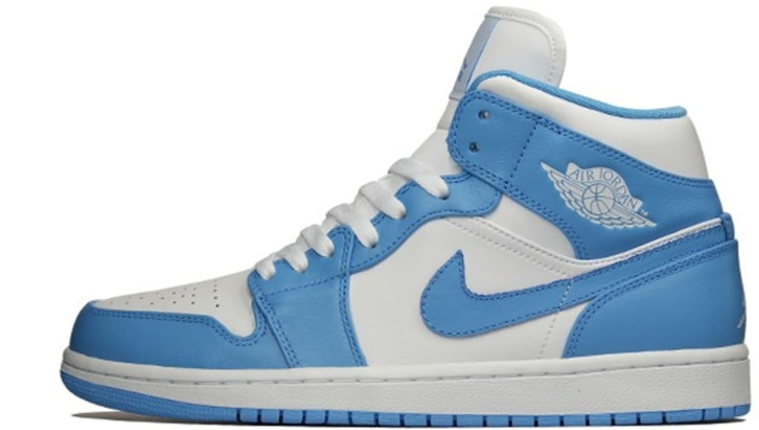 Air Jordan 1 Mid White/University Blue-White
