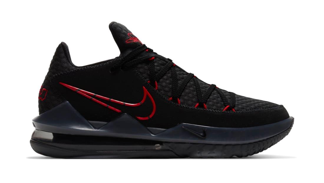 Nike LeBron 17 Low Black/University Red-Dark Grey