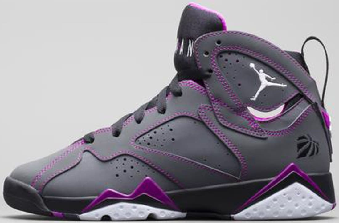 huge discount 33a67 9f646 Air Jordan 7 Retro Girls Dark Grey/White-Black-Fuchsia Flash ...